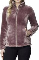 32 Degrees Heat Women's Size XL Plush Faux Fur Odyssey Plum Full Zip Jacket NWT