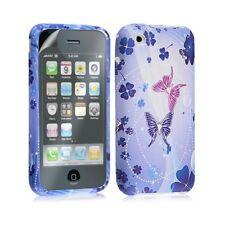 Housse étui coque en gel pour Apple Iphone 3G 3GS avec motifs + film protection