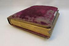Antique Cabinet Cards Photo Album Victorian red velvet - Empty