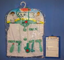 Doctor costume role play-3-6 yrs;Melissa & Doug;7- piece tools;clip board;LOT-10