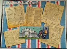 Vintage American Heritage Foundations Puzzle Instructional Fair 1989 Complete