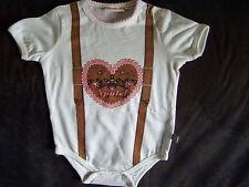 Liegelind Strampler Baby Body Dirndl Herz Tracht Gr. 50 / 56 Trachtenbody Wiesen