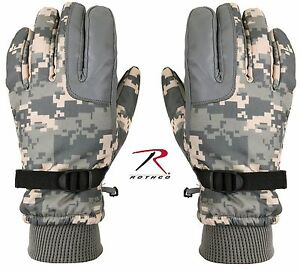 ACU Digital Cold Weather Gloves - Rothco Mens Insulated Camo Winter Gloves