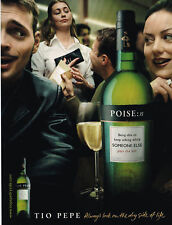 Tio Pepe Original Magazine Ad Advert 2001 Always Look On The Dry Side Of Life