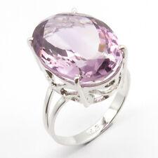 Natural AMETHYST Gemstone Solid Sterling Silver SIZE 10 Designer Engagement Ring