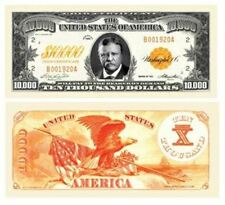 Set of 5 - $10,000.00 Ten Thousand Dollar Gold Certificate Novelty Bill