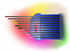 10 Wolframelektroden Rainbow Set 1,6 x175mm WIG Tungsten Wolfram Elektrode Nadel