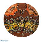 Aboriginal Dot Art Wood Plate Hand Painted Signed