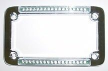 Classic Chrome Standard Dual LED License Plate Frame - Signal Dynamics - 02228