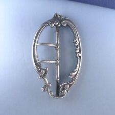 Victorian Sterling Silver Belt Buckle