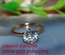 0.8ct 5mm Solitaire DIAM0ND ring size P 8