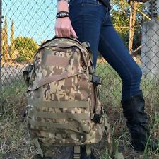 Outdoor 40L Molle Tactical 3D Backpack Rucksack Camping Hiking CP Camo Color