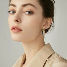 Fashion Drop Earrings With Two Toned