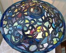 """22"""" LARGE TIFFANY STYLE MULTI COLOR CONTEMPORARY STAINED GLASS LAMP LIGHT SHADE"""