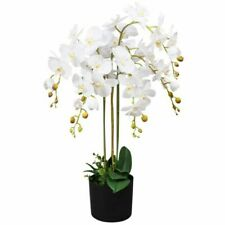 vidaXL 244425 Artificial Orchid Plant with Pot - White