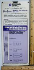 Jefferson Electric Engineering Slide Chart Rule Transformer wiring diagram volts
