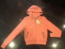 NWT Juicy Couture New & Gen. Ladies Small Peach Cotton Hoody With Studs & Logo