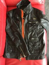 SUPERDRY Falcon Black LEATHER JACKET Size XL EXCELLENT CONDITION