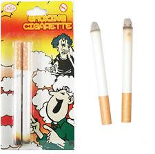2 Fake Cigarettes Fags Smoking Lit End Joke Prank Smoke Novelty Theatrical Trick