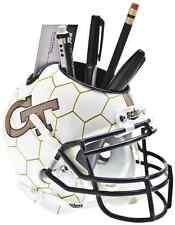 GEORGIA TECH YELLOW JACKETS NCAA Schutt Mini Football Helmet DESK CADDY