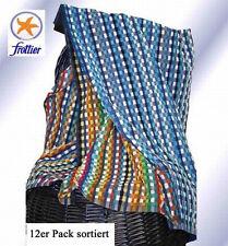 3er Pack FROTTIER-GRUBENTUCH dunkel Multicolorstreifen 100% Baumwolle