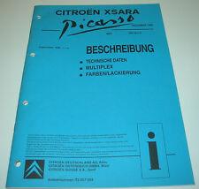 Werkstatthandbuch Citroen Xsara Beschreibung Multiplex Farben / Lackierung 1999!