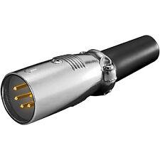 XLR Stecker 3polig Vergoldete pins Schwarze Kappe Mikrofonstecker 5 Stück