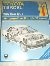 Haynes Auto Repair Manual Toyota Tercel 1987 To 1994  Manual 2106  New