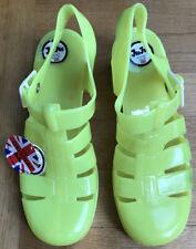 Jellies  By juju,Block Heeled ,Yellow Green ,Size 8,