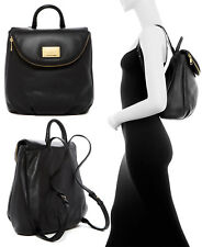 NWT $500 Marc Jacobs New Q Mariska Leather Women's Backpack in BLACK