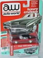 Auto World Cadillac Coupe Deville 1976 Schwarz mit Schwarzem Dach 64192 1//64