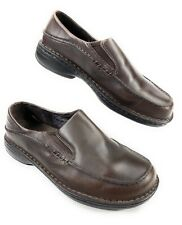 Merrell Tetra Moc Dark Brown Leather Slip On Loafer Shoes Women's 9 US, 40 EUR