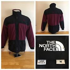 Men's The North Face Full Zip Denali Fleece Jacket Size Medium Maroon Made USA