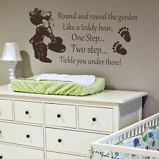 Nursery Rhyme Quote Wall Sticker! Home Transfer Kids Decal Decor Stencil Art Uk