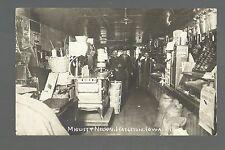Hazleton IOWA RP c1910 INTERIOR GENERAL STORE nr Oelwein Independence STOVE