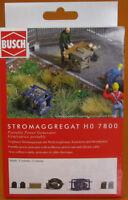 Busch 7800 Ausgestaltung Tragbares Stromaggregat H0 Scale 1 87 NEU OVP