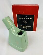 Bausch & Lomb Enlarging Focusing Magnifier Cat 81-34-53 Orig Box USA Vintage