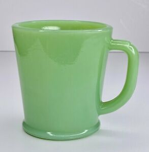 Fire King Jadeite Philbe Wannabe Flat Bottom Rolled Rim Coffee Mug Cup ~ Jadite