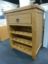 New Chunky Oak 1 Drawer Wine Storage Unit Cabinet *Department Store*