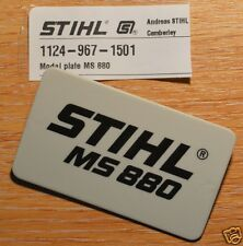 Genuine Stihl MS880 Badge Model Plate Name Plate 1124 967 1501 Tracked Post
