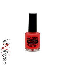Red PaintGlow UV Reactive Neon Nail Polish Varnish Glows Under UV Lighting