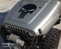 Punisher Skull Hood Vinyl Decal Sticker Auto Graphics Racing cutout removable