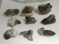 Smoky quartz clusters, 9 piece lot, Brazil, 407 grams!!!  AAA!!