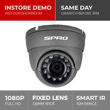 SPro 1080P 2MP HD CVI TVI AHD Analogue CCTV Dome Camera 15m Night Vision BNC