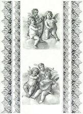 Carta DI RISO DECOUPAGE Scrapbook Foglio Craft-MUSICAL Angels