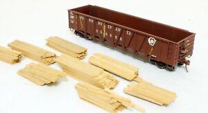 Kit Built Wood Outside Braced Gondola - Pennsylvania - O Scale, 2-Rail.