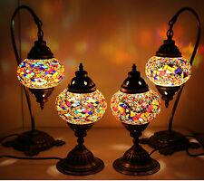 Multicolour Turkish Moroccan Style Mosaic Table Lamp Lampshade 4 pcs Set
