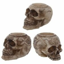 GOTHIC SKULL TEA LITE T-LITE HOLDER, BNIB, FREE UK P&P SK116