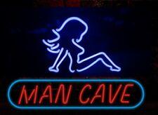 """Man Cave"" Neon Sign Light Handmade Visual Artwork Beer Bar Pub Wall 17''x14''"