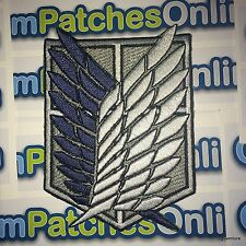 """ATTACK ON TITAN Recon Corps Scouting Survey Cosplay 3"""" Patch Iron On Full Emb."""